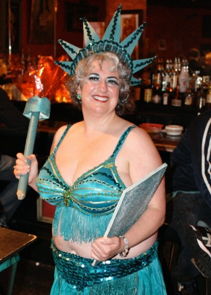 Holly Highbeams as Lady Liberty!
