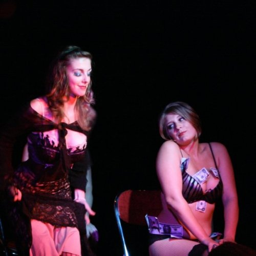 "Sultra Violet and Vicious Veronica Voom in ""Show Me the Money!"" This was Sultra Violet's ""solo"" debut, with 4 backup dancers."